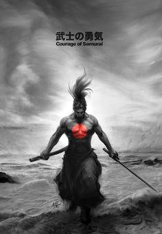 Courage of Samurai by Artgerm™