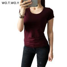 Barato Alta Qualidade 21 Algodão Doce Cor Básica T shirt Ocasional Das Mulheres o pescoço Feminino Camisa de T Para Mulheres de Manga Curta Blusas Femininas 001, Compro Qualidade Camisetas diretamente de fornecedores da China: Alta Qualidade 21 Algodão Doce Cor Básica T-shirt Ocasional Das Mulheres o-pescoço Feminino Camisa de T Para Mulheres de Manga Curta Blusas Femininas 001