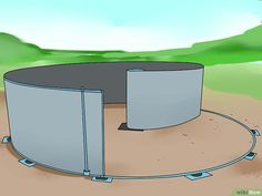 How to Put in an Above Ground Pool. There are many above ground pools on the market today that offer hours of family fun and good exercise when the weather is just too hot for other activities. How to put an above ground pool in depends on. Installing Above Ground Pool, Above Ground Pool Steps, Above Ground Pool Landscaping, Backyard Pool Landscaping, Backyard Pool Designs, Above Ground Swimming Pools, In Ground Pools, Backyard Ideas, Pool Deck Plans