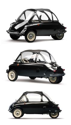 1956 Heinkel Kabine 154 - microcar - Aircraft designer Ernst Heinkel saw the Iso Isetta, and decided he could do better using aircraft principles and making it lighter, yet faster with a smaller engine.