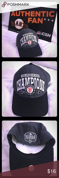 ⚾️ San Francisco Giants World Series New Era Cap Authentic New Era Fitted Medium-Large Cap from 2012 World Series. Official On-Field Cap. New Era Accessories Hats