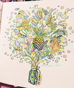 """My first trial of the Escape to Wonderland Coloring Book  #coloringbook #alice #aliceinwonderland #wonderland #coloring #colorpencils #pensilwarna…"""