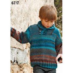 Pull en laine KATIA AZTECA pour enfant - La Malle aux Mille Mailles - free