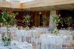 Wedding Flowers Bristol - The Wilde Bunch Wedding Florist Wedding Venues Uk, Wedding Events, Weddings, Wedding Centerpieces, Wedding Decorations, Table Decorations, Hanging Tea Lights, Elmore Court, Tall Vases