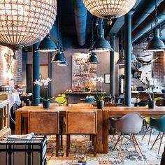 """Industrial, yet cozy interior of @hotelfabric in Paris"""