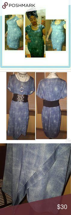 Selling this Fashion to Figure Denim Sheath Dress on Poshmark! My username is: mrsabb323. #shopmycloset #poshmark #fashion #shopping #style #forsale #Fashion to Figure #Dresses & Skirts