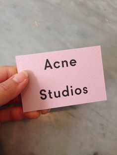 Repinned | Marketing Material Inspiration. Business cards, look books, leaflets etc. ACNE STUDIOS.