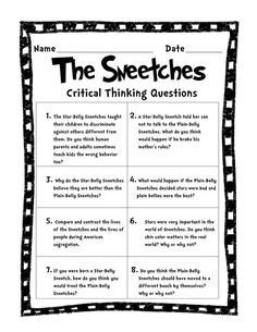 FREE - Short & Extended Response Activities - A Dr. Seuss inspired lesson for Black History Month, but great for teaching your class about equality throughout the year!