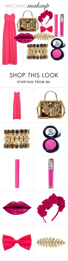 """Must have look"" by mrudula-26 on Polyvore featuring beauty, Badgley Mischka, Dolce&Gabbana, Eddie Borgo, Medusa's Makeup, Maybelline and Urban Decay"