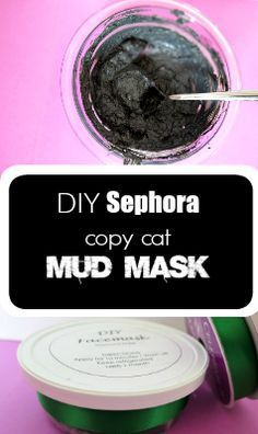 DIY Sephora style mud mask! This will be the ONLY face mask you'll ever need! Make it at home instead of paying high department store prices.  thecrazyorganizedblog.com