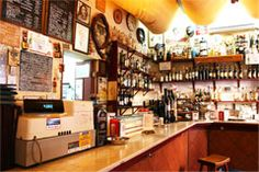 Taberna El Quinto Vino, a great place for its Spanish cured ham croquettes.