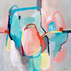 Impresión gris abstracto pintura arte Giclee impresión gris
