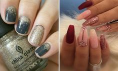 Snazzy New Year's Eve Nail Designs