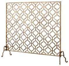 Lexington Single-Panel Fireplace Screen - Traditional - Fireplace Accessories - by Horchow