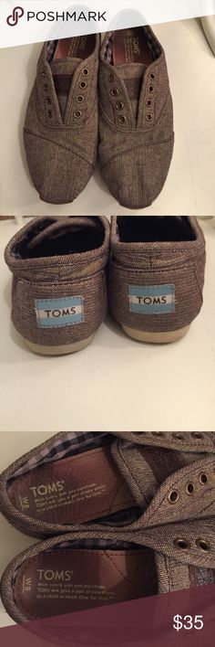 🎉PRICE DROP🎉Brown Slip on Tom Shoes size 8 Brown Tom Slip on Shoes. Size 8. In excellent condition. Only worn about 6 times. Just don't wear anymore and need gone. Very comfy! TOMS Shoes Sneakers