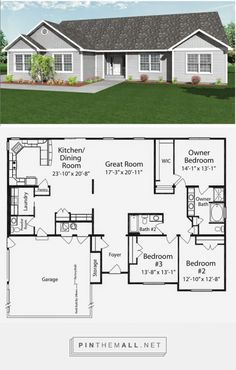 Functional Homes:                    Universal Design for Accessibility: 3-Bedroom Wheelchair Accessible House Plans   NOT available for purchase here. - created via https://pinthemall.net
