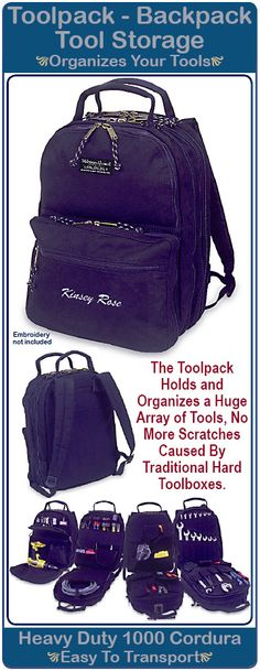 Tool Box Back Pack-Welcome Aboard