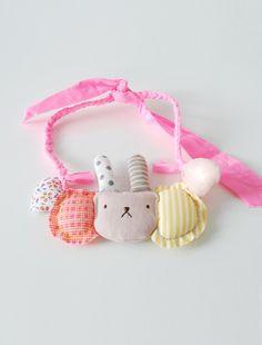 the | rabbit | bib necklace