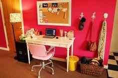 Apartment Therapy, Pink Warm Study. 507f71c1dbd0cb0cd00000d7._w.540_