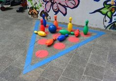 And Creative Ideas for School Gardens Playground Painting, Playground Games, Backyard Playground, Outdoor Classroom, Outdoor School, Preschool Games, Activities For Kids, Diy For Kids, Crafts For Kids