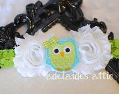 Owl Headband for Baby Toddler Child Adult  White by DirectorJewels, $9.50