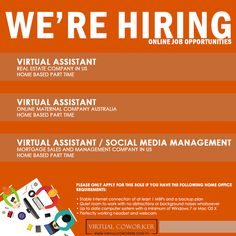 You may also send your updated resume to apply@virtualcoworker.com