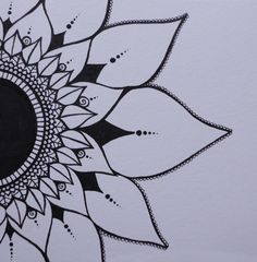 23 Ideas Tattoo Sunflower Mandala Patterns For 2019 Sunflower tattoo – Top Fashion Tattoos Sunflower Mandala Tattoo, Dotwork Tattoo Mandala, Sunflower Tattoo Shoulder, Sunflower Drawing, Lotus Mandala, Sternum Tattoo, Lotus Tattoo, Tattoo Thigh, Mandala Design