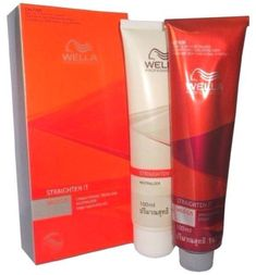 Wella permanent straightener cream hair straightening mild smooth kit C/S #Wella #hairstraightener