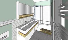 1000 id es sur le th me salle de bain 6m2 sur pinterest for Agencer une salle de bain