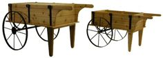 Wooden Cart with Wheels | Comparison of the original Flower Cart and the Mini Flower Cart