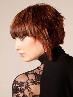 Short Bob Hairstyles with bangs angled choppy - Cool & Trendy Short Hairstyles 2017