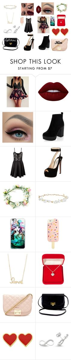 """Band for girls #1"" by hannah-may-malone on Polyvore featuring Lime Crime, Lipsy, Prada, Robert Rose, Samsung, Tory Burch, Sydney Evan, Alexa Starr, Forever 21 and Amorium"