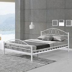 moebel direkt online Metallbett weiß, Liegefläche 140x200 cm