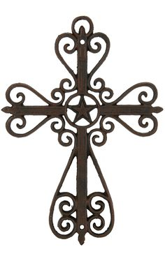 M&F Western Products® Metal Swirls and Star Wall Cross | Cavender's