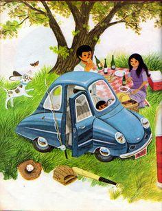 Cars, William Dugan, 1973 - Blue Car