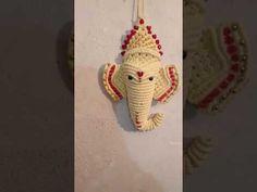 Make Keys, Crochet Elephant, Curtain Ties, Ganesh, Diy And Crafts, Christmas Ornaments, Knitting, Holiday Decor, How To Make