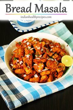Bread masala is a spicy snack made with bread, spices & herbs. #breadmasala #masalabread via @swasthi
