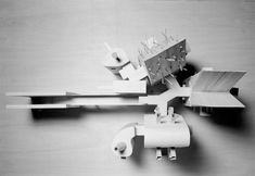 Model (1 to 3 scale) of the Working Room (House for a Poet) for un-built project Casa Guardiola, Cadiz (1989) | John Hejduk