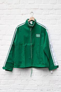 1960's deadstock US nylon green sport jacket