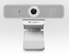 "the ""C920-C"" Full HD webcam in white could be placed everywhere needed in a mobile lifestyle way 