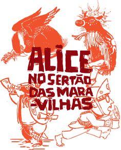"""Obra literária baseada em """"Alice Adventures in Wonderland"""", Texto e Imagem por Erlan Carvalho. Trabalho de conclusão de curso pela Universidade Federal do Rio de Janeiro"""