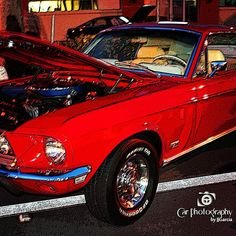 The 1968 Mustang was little changed from it 67 counterpart. Most of the changes were in subtle refinements to the interior and exterior. New options for 68 included an AM/FM stereo radio rear window defogger (coupe and fastback only) re-designed front power disc brakes and the all new 302 cid engine. The 302-4V 230horsepowerengine replaced the 289 Challenger Special of previous years #68fordmustanggt #68mustanggt #68gt #ford #mustang#carphotographybyjjgarci