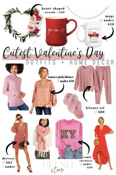 The CUTEST Valentine's Day Outfits + Home Decor - Blush & Camo  Valentine's Day outfits | Valentine's Day decor | what to wear for Valentine's Day