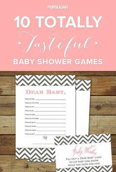 10 Totally Tasteful Baby Shower Games