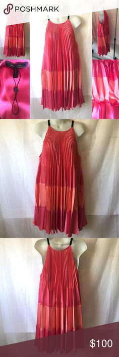 🎈HP🎈BCBGMAXARIZA COLOR BLOCK DRESS, NWOT, I had this dress for about 8 years, I loved it so much and never wore it, I don't know why it's to fly, dope colors... I am thinking 🤔 of keeping it.. BCBGMaxAzria Dresses