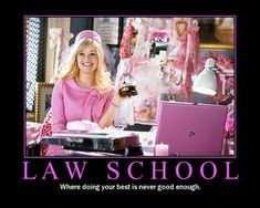 Law School; Where doing your best is never good enough.