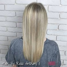 Cool blonde highlights, ready for summer, by Ross Anthony