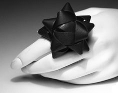 ok, not really origami, but a leather bow