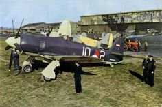 Hawker Sea Fury 1946 Dutch Navy Sea Fury at Hawker's Langley airfield Berkshire from Flight a Typhoon in WWII Europe Ww2 Aircraft, Fighter Aircraft, Military Aircraft, Fighter Jets, Aircraft Painting, History Online, Ww2 Planes, Royal Air Force, World War Ii