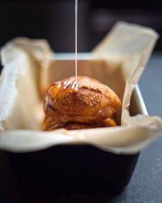 A vegan bao donut. A cinnamon sugar vegan bao donut with a homemade caramel drizzle. Vegan Crab, Bagel Breakfast Sandwich, Vegan Beef, Sweet And Spicy Sauce, Vegan Pumpkin, Tofu Recipes, Crab Cakes, Vegan Butter